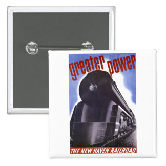 New Haven Railroad Greater Power 1938 15 Cm Square Badge