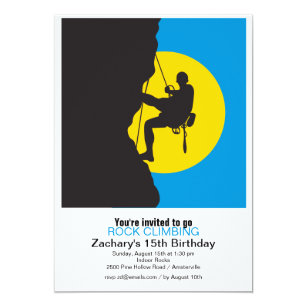 Rock Climbing Invitations Announcements Zazzlecomau