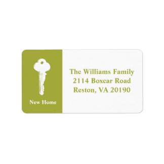 New Home Address Labels - Green