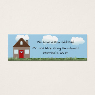 New Home Announcement Mini Business Card