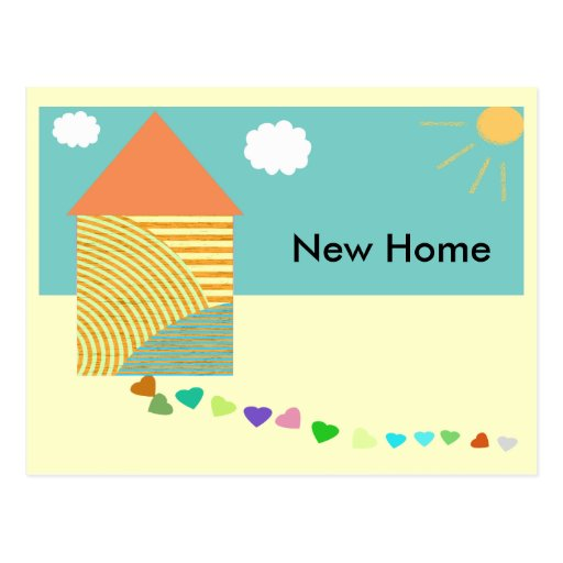 New Home Announcement Postcard
