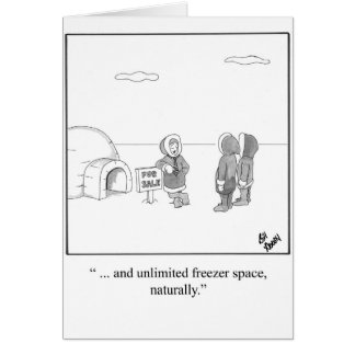 New Home Congratulations Humor Greeting Card