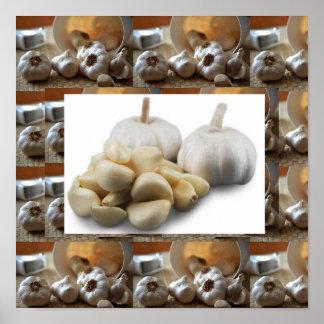 New Home Kitchen Decorations Garlic Super Flavors Poster
