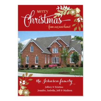 New Home-Merry Christmas custom photo Card