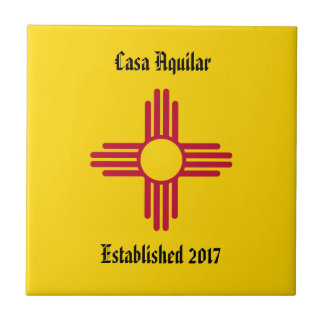 New Home New Mexico Zia Symbol Personalise Tile