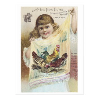 New Home Sewing Machine Postcard