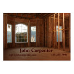 New home under construction business card template