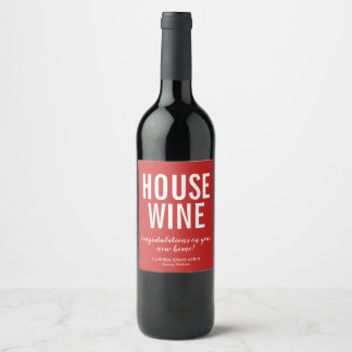 New Home Wine Label | Red