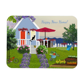 "New Home Wishes 3""x4"" Photo Magnet"
