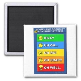 New Homeland Security Advisory System Magnet