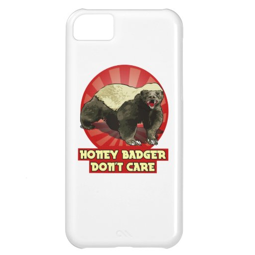 New Honey Badger Don't Care Case For iPhone 5C
