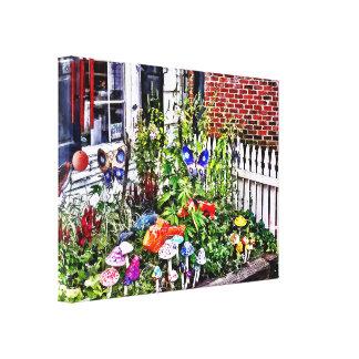 New Hope Pa - Garden Of Ceramic Mushrooms Canvas Print