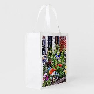 New Hope Pa - Garden Of Ceramic Mushrooms Reusable Grocery Bag