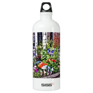New Hope Pa - Garden Of Ceramic Mushrooms Water Bottle