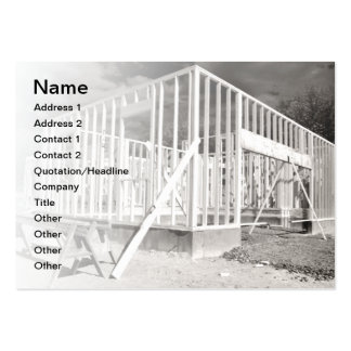 new house construction large business cards (Pack of 100)