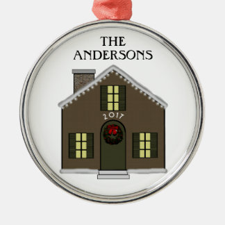 New House Metal Ornament