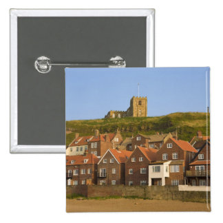 New housing and St Margarets church, Whitby, 15 Cm Square Badge