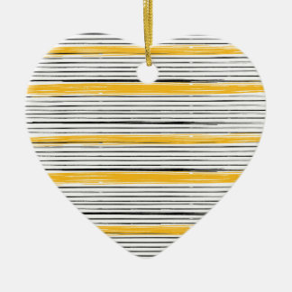 New in shop : Designers heart with gold stripes Ceramic Heart Decoration
