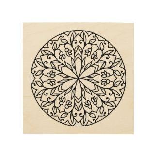New in shop : Stylish mandala on wood Wood Canvas