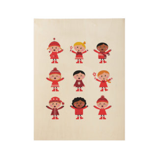 New in shop : Wooden poster with little Kids Wood Poster