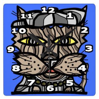 """New Jack Kat"" Square Wall Clock"