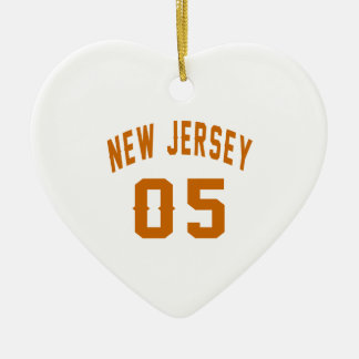 New Jersey  05 Birthday Designs Ceramic Heart Decoration