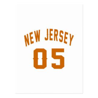 New Jersey  05 Birthday Designs Postcard