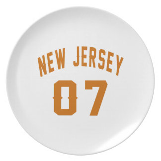 New Jersey  07 Birthday Designs Plate