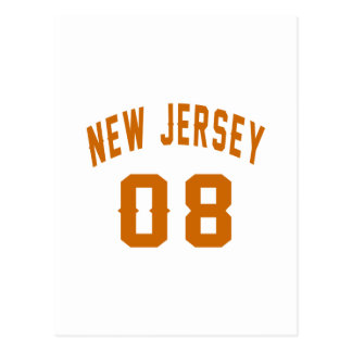 New Jersey  08 Birthday Designs Postcard