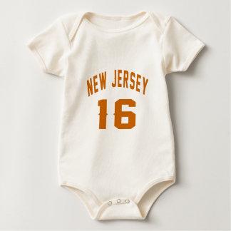 New Jersey  16 Birthday Designs Baby Bodysuit