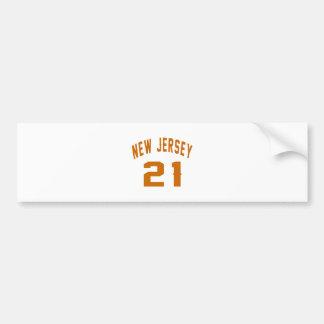 New Jersey  21 Birthday Designs Bumper Sticker