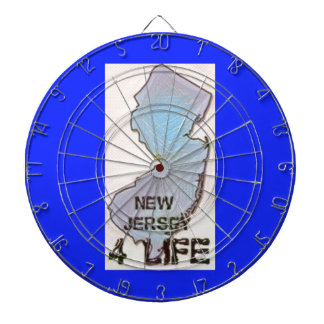 """New Jersey 4 Life"" State Map Pride Design Dartboard"