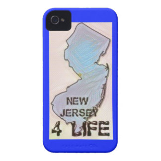 """New Jersey 4 Life"" State Map Pride Design iPhone 4 Cover"