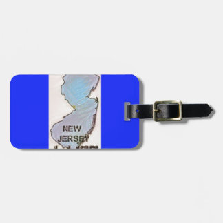 """""""New Jersey 4 Life"""" State Map Pride Design Luggage Tag"""