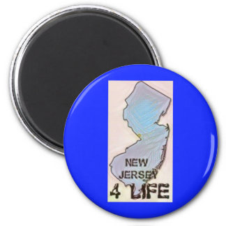 """New Jersey 4 Life"" State Map Pride Design Magnet"
