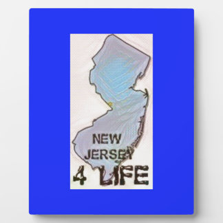 """""""New Jersey 4 Life"""" State Map Pride Design Plaque"""