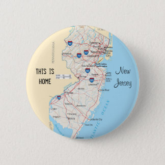 New Jersey 6 Cm Round Badge