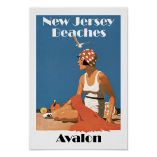 New Jersey Beaches ~ Avalon Poster