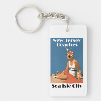 New Jersey Beaches ~ Sea Isle City Key Ring
