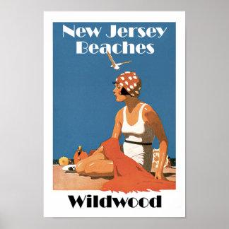 New Jersey Beaches ~ Wildwood Poster