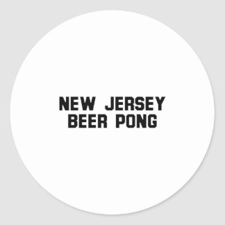 New Jersey Beer Pong Stickers