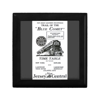 New Jersey Central Blue Comet Train Giftbox Keepsake Boxes