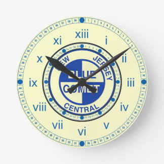 New Jersey Central Blue Comet Train Logo Round Clock