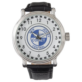 New Jersey Central Blue Comet Train Logo Watches