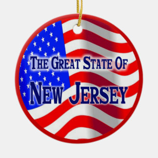 New Jersey Ceramic Ornament
