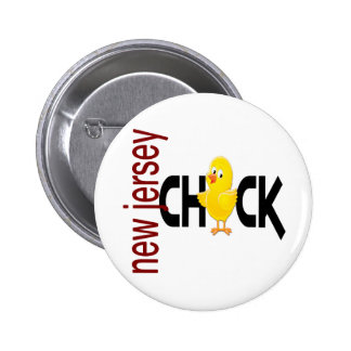 New Jersey Chick 1 Pinback Buttons