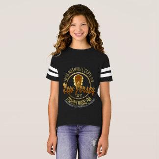 New Jersey Country Music Fan Girl's Football Shirt
