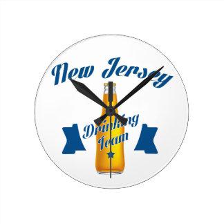 New Jersey Drinking team Round Clock