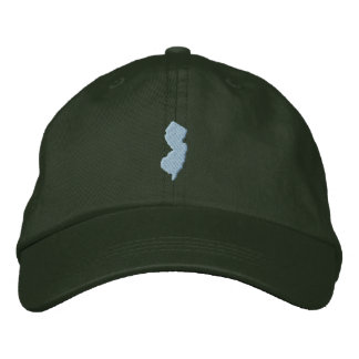 New Jersey Embroidered Baseball Caps