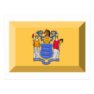 New Jersey Flag Gem Post Card